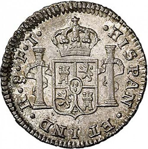 half Real Reverse Image minted in SPAIN in 1814FJ (1808-33  -  FERNANDO VII)  - The Coin Database