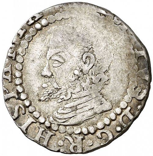 1 Croat Obverse Image minted in SPAIN in 1596 (1556-98  -  FELIPE II - Local Coinage)  - The Coin Database