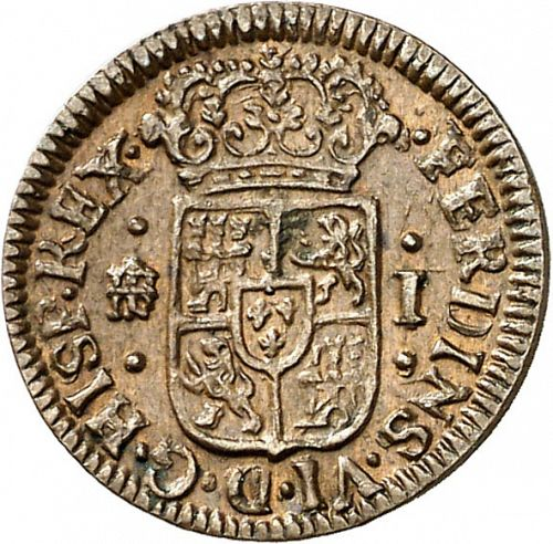 1 Maravedí Obverse Image minted in SPAIN in 1746 (1746-59  -  FERNANDO VI)  - The Coin Database