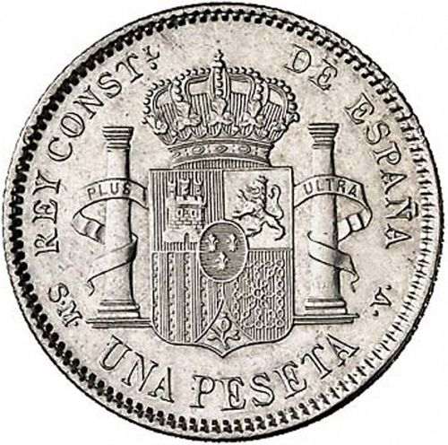 1 Peseta Reverse Image minted in SPAIN in 1905 / 05 (1886-31  -  ALFONSO XIII)  - The Coin Database