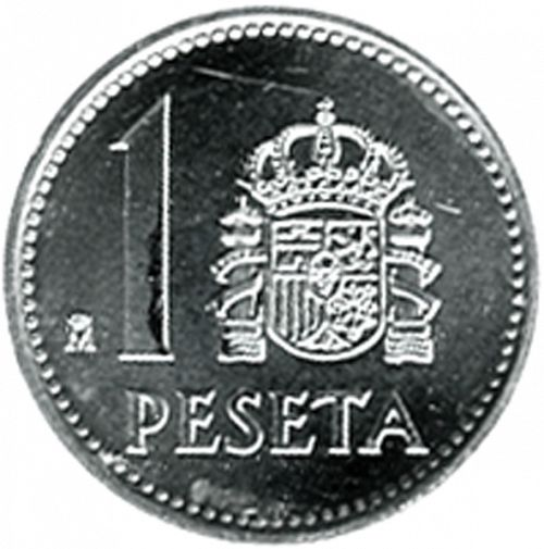 1 Peseta Reverse Image minted in SPAIN in 1988 (1975-82  -  JUAN CARLOS I)  - The Coin Database