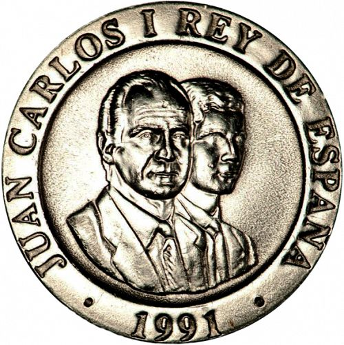 200 Pesetas Obverse Image minted in SPAIN in 1991 (1982-01  -  JUAN CARLOS I - New Design)  - The Coin Database
