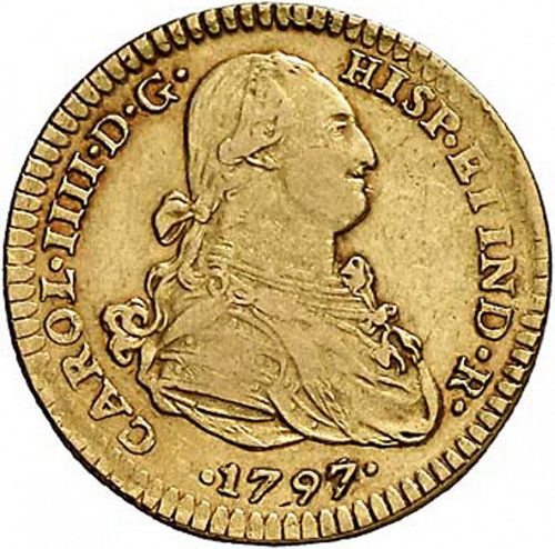 2 Escudos Obverse Image minted in SPAIN in 1797FM (1788-08  -  CARLOS IV)  - The Coin Database