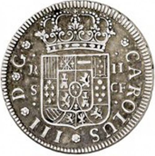 2 Reales Obverse Image minted in SPAIN in 1770CF (1759-88  -  CARLOS III)  - The Coin Database