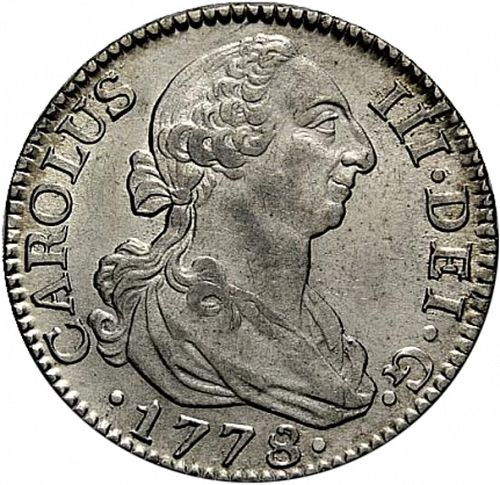 2 Reales Obverse Image minted in SPAIN in 1778PJ (1759-88  -  CARLOS III)  - The Coin Database
