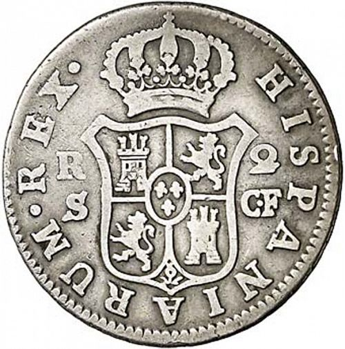 2 Reales Reverse Image minted in SPAIN in 1782CF (1759-88  -  CARLOS III)  - The Coin Database