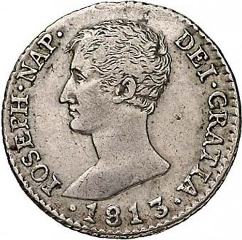 2 Reales Obverse Image minted in SPAIN in 1813RN (1808-13  -  JOSE NAPOLEON)  - The Coin Database