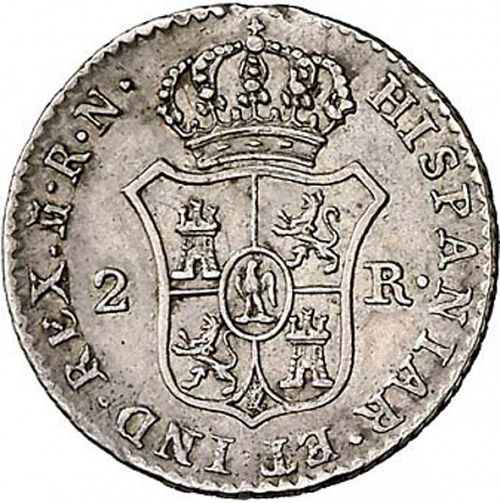 2 Reales Reverse Image minted in SPAIN in 1813RN (1808-13  -  JOSE NAPOLEON)  - The Coin Database