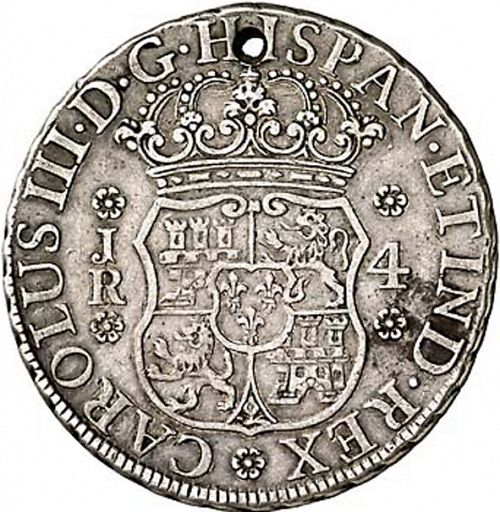 4 Reales Obverse Image minted in SPAIN in 1768JR (1759-88  -  CARLOS III)  - The Coin Database