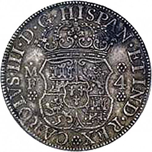 4 Reales Obverse Image minted in SPAIN in 1768MF (1759-88  -  CARLOS III)  - The Coin Database