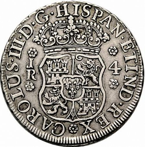 4 Reales Obverse Image minted in SPAIN in 1769JR (1759-88  -  CARLOS III)  - The Coin Database