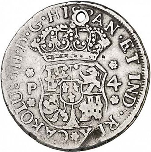 4 Reales Obverse Image minted in SPAIN in 1771P (1759-88  -  CARLOS III)  - The Coin Database