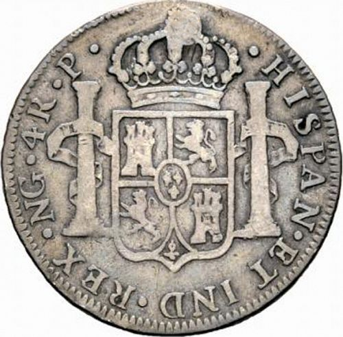 4 Reales Reverse Image minted in SPAIN in 1777P (1759-88  -  CARLOS III)  - The Coin Database