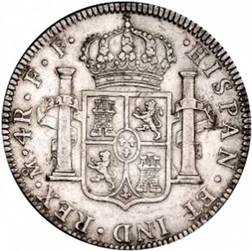 4 Reales Reverse Image minted in SPAIN in 1778FF (1759-88  -  CARLOS III)  - The Coin Database
