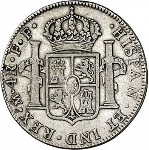 4 Reales Reverse Image minted in SPAIN in 1782FF (1759-88  -  CARLOS III)  - The Coin Database