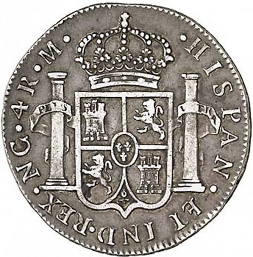 4 Reales Reverse Image minted in SPAIN in 1794M (1788-08  -  CARLOS IV)  - The Coin Database