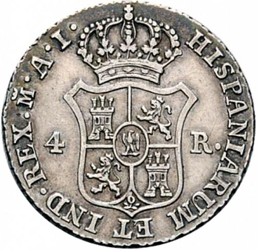 4 Reales Reverse Image minted in SPAIN in 1812AI (1808-13  -  JOSE NAPOLEON)  - The Coin Database