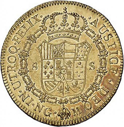 8 Escudos Reverse Image minted in SPAIN in 1794M (1788-08  -  CARLOS IV)  - The Coin Database