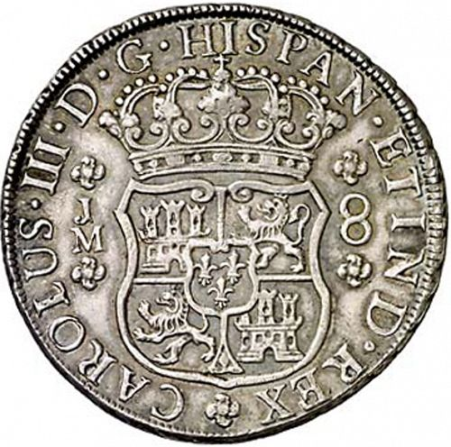 8 Reales Obverse Image minted in SPAIN in 1769JM (1759-88  -  CARLOS III)  - The Coin Database