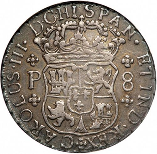 8 Reales Obverse Image minted in SPAIN in 1769P (1759-88  -  CARLOS III)  - The Coin Database