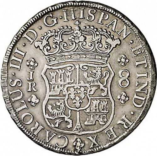 8 Reales Obverse Image minted in SPAIN in 1770JR (1759-88  -  CARLOS III)  - The Coin Database