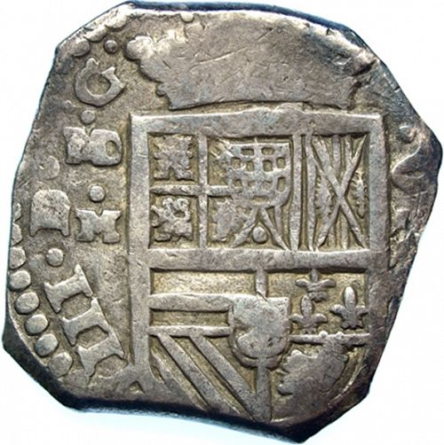8 Reales Obverse Image minted in SPAIN in 1635M (1621-65  -  FELIPE IV)  - The Coin Database