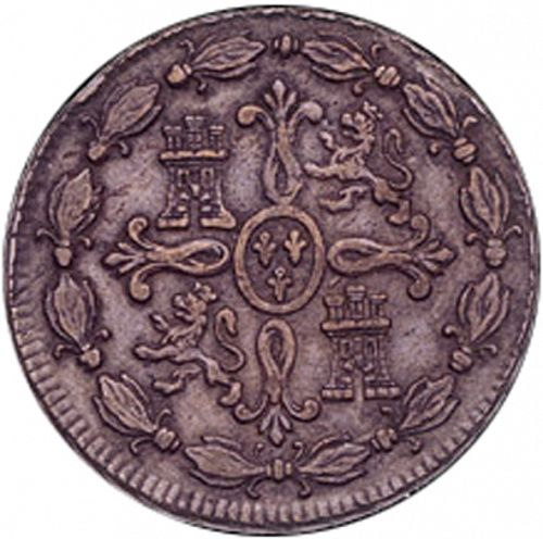 8 Maravedies Reverse Image minted in SPAIN in 1776 (1759-88  -  CARLOS III)  - The Coin Database