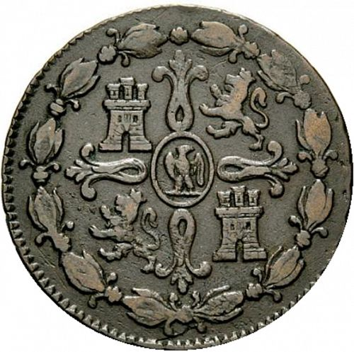 8 Marevedies Reverse Image minted in SPAIN in 1811 (1808-13  -  JOSE NAPOLEON)  - The Coin Database