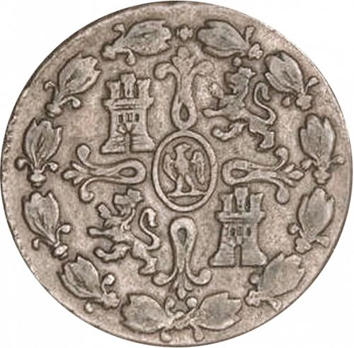8 Marevedies Reverse Image minted in SPAIN in 1812 (1808-13  -  JOSE NAPOLEON)  - The Coin Database