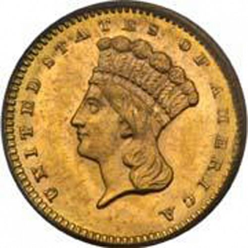 1 dollar - Gold Obverse Image minted in UNITED STATES in 1859S (Large Indian Head)  - The Coin Database